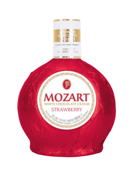 Mozart White Chocolate Cream Strawberry; 15 %vol.; 0,5 Liter